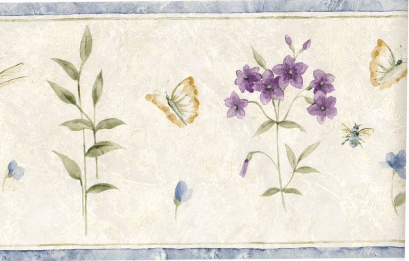 SUMMER BOTANICAL WALLPAPER BORDER Pattern SP74481L Manufactured by 800x511