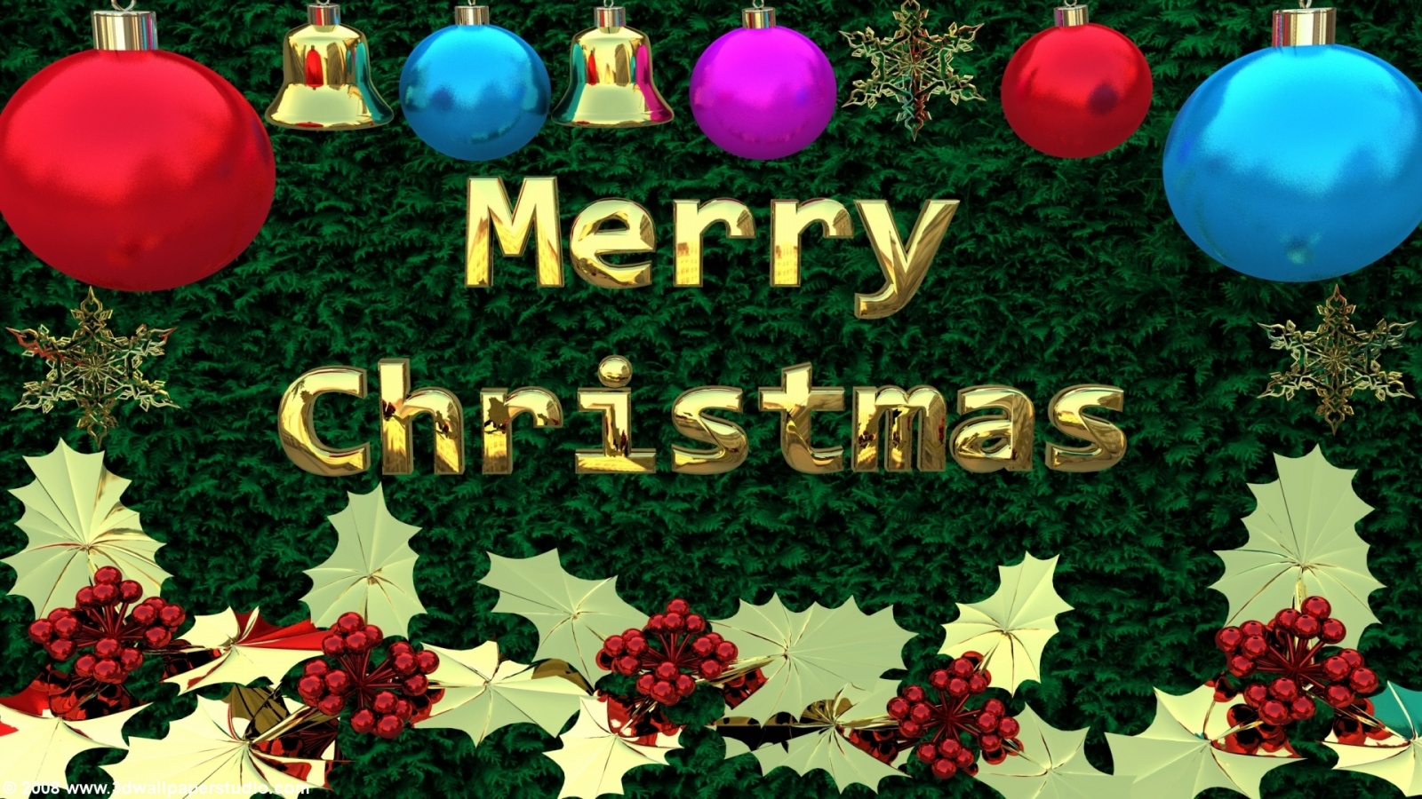 Merry Christmas wallpaper in 1600x900 screen resolution 1600x900