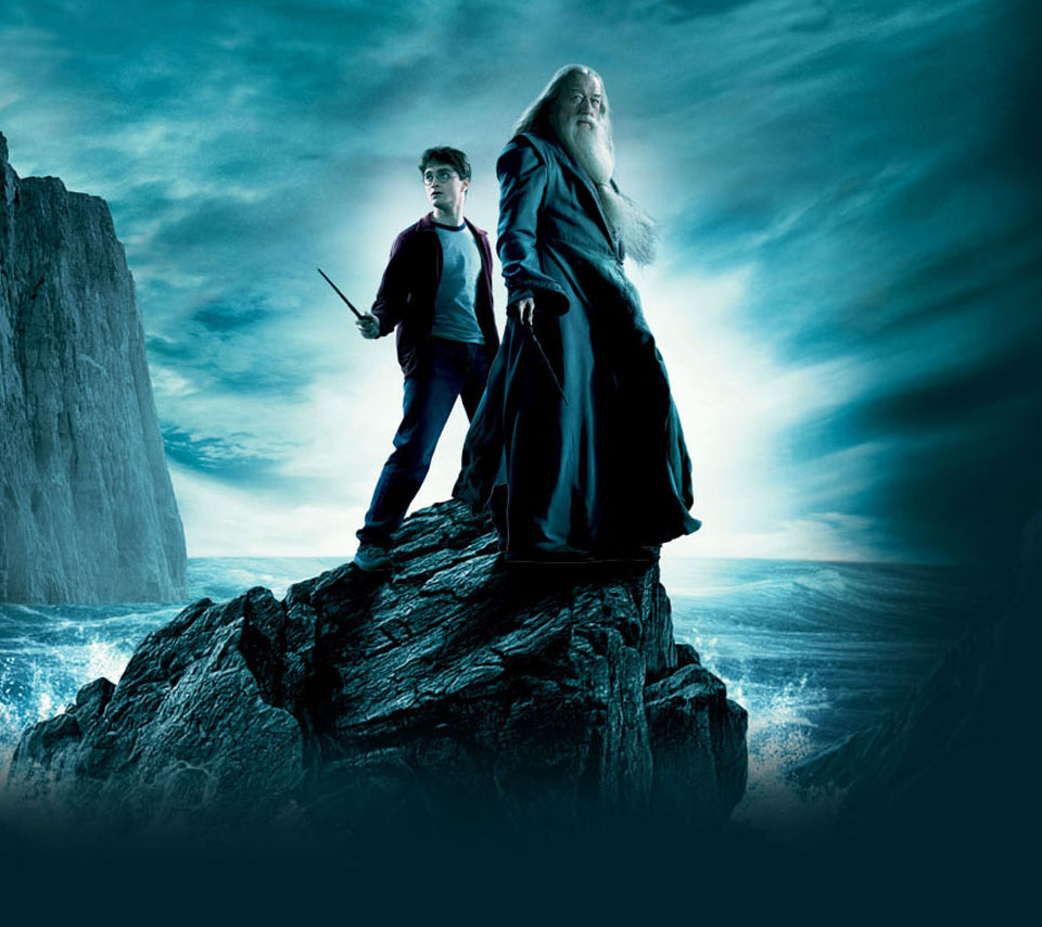 Photo Harry and Dumbledore in the album Movie Wallpapers by 960x854