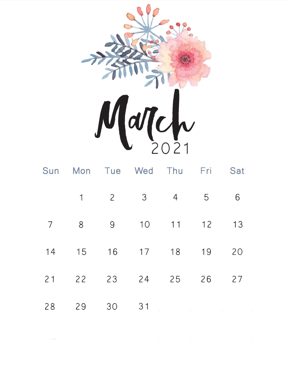 March 2021 Calendar Wallpaper Cute   Find amp download