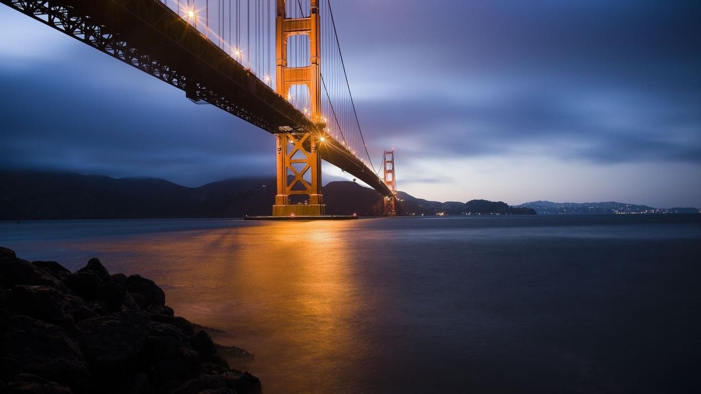 Wallpaper San Francisco Golden Gate Bridge Golden Gate Bridge Stadt 1366x768