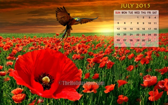 Month wise Calender Wallpapers July 2014 Calendar Wallpaper 541x338