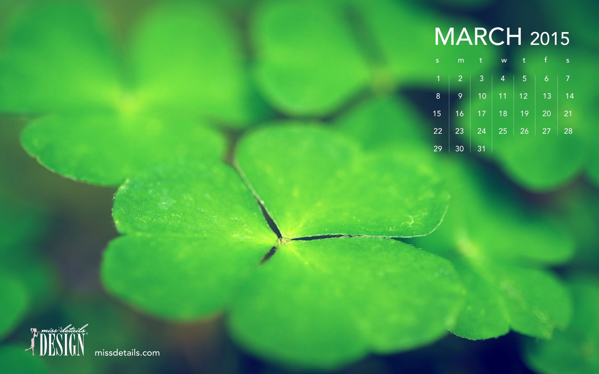 March 2015 desktop calendar wallpaper 1920x1200