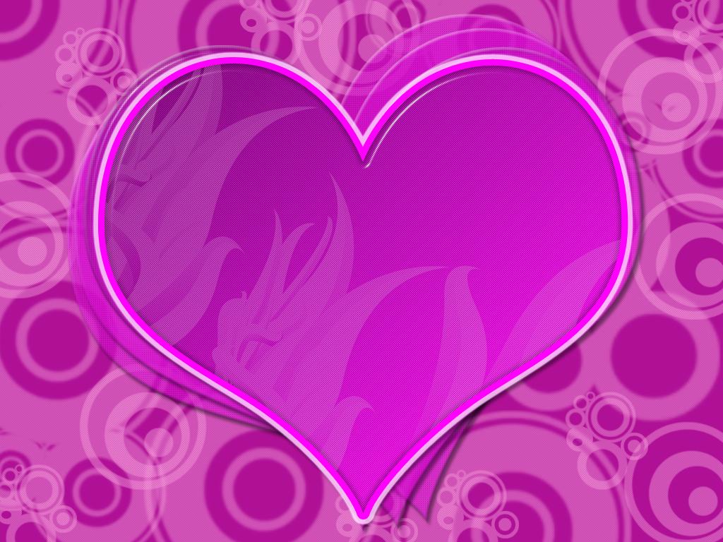 Pink Love heart Wallpaper by mx5boy 1024x768