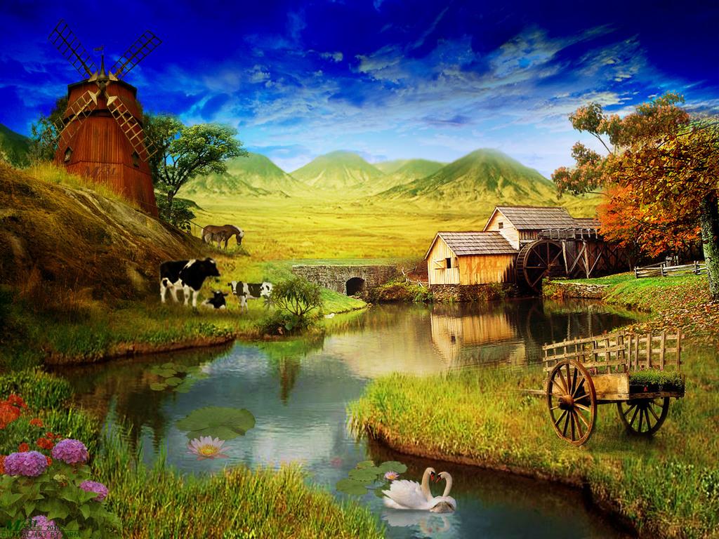Farm Wallpaper  yvt2 1024x768