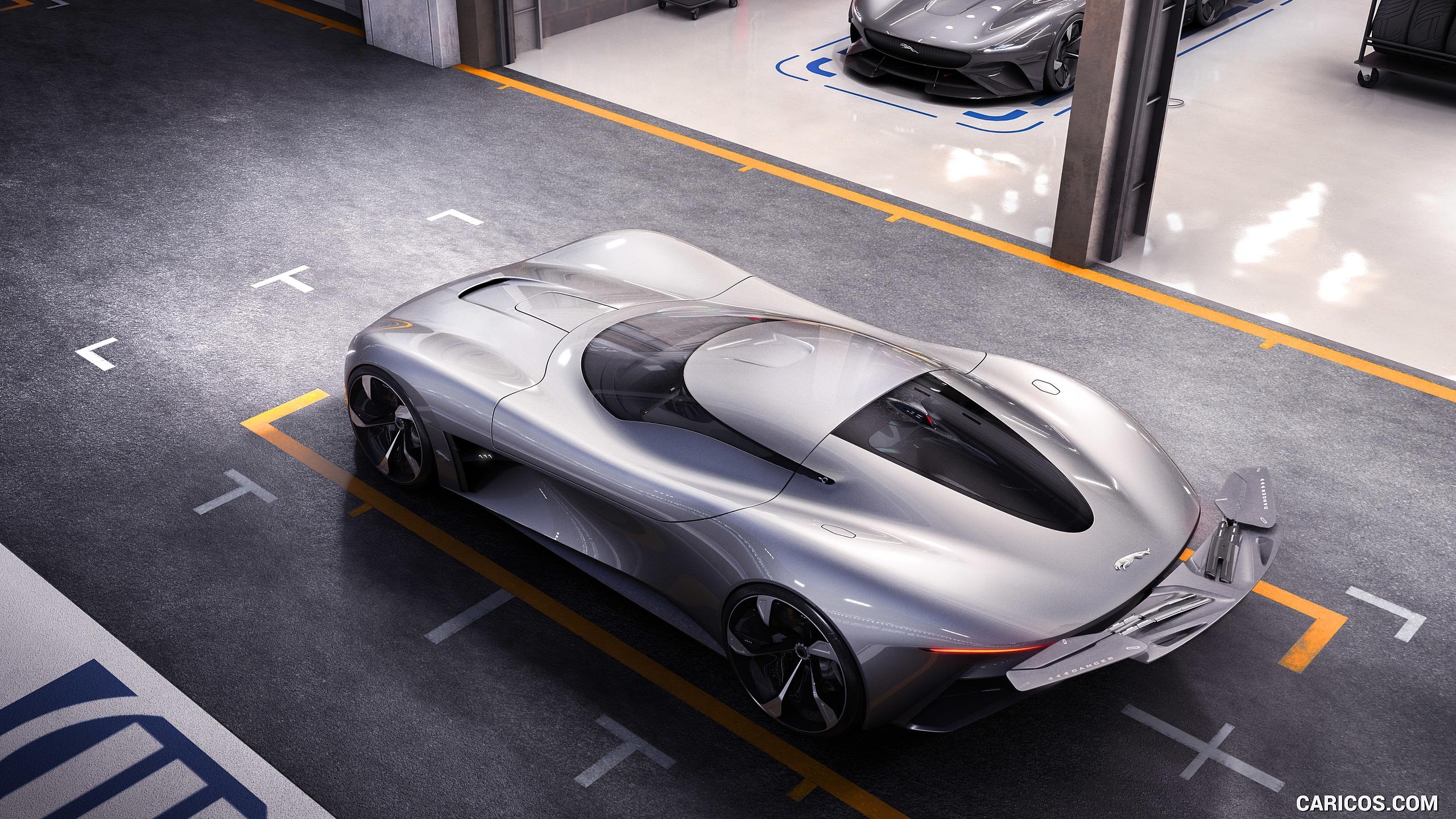 2019 Jaguar Vision Gran Turismo Coup EV Concept   Top HD 2560x1440