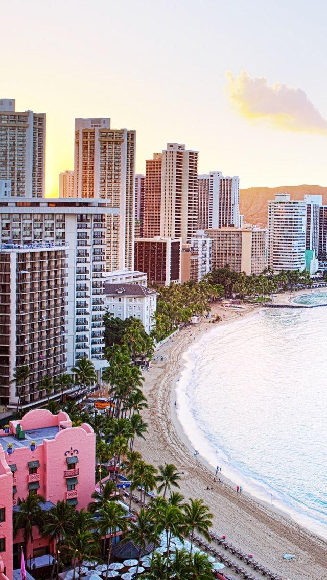 Waikiki Beach Hawaii Down by the seaside Mary Ann Iphone 5s 640x1136