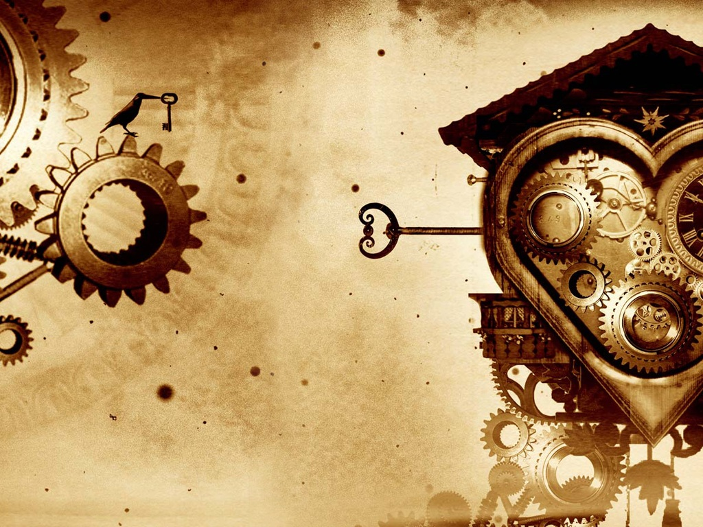 Free Download Mechanical Heart Gear Wallpaper 40339