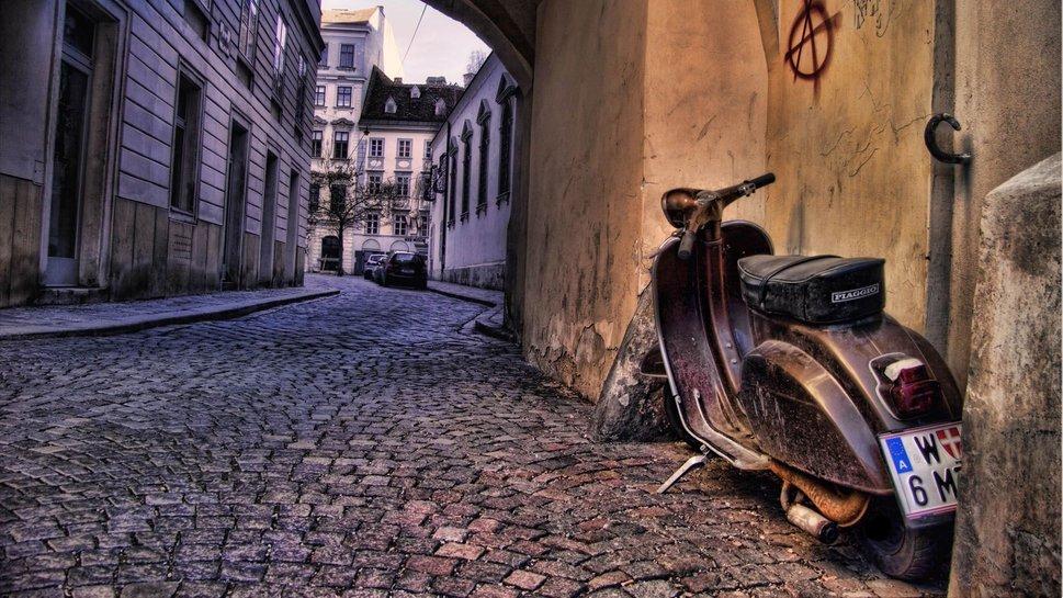 Itali scooter oude fiets wallpaper   ForWallpapercom 969x545