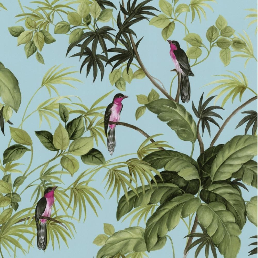 International Tropical Exotic Birds Trees Leaves Wallpaper 05550 10 1000x1000