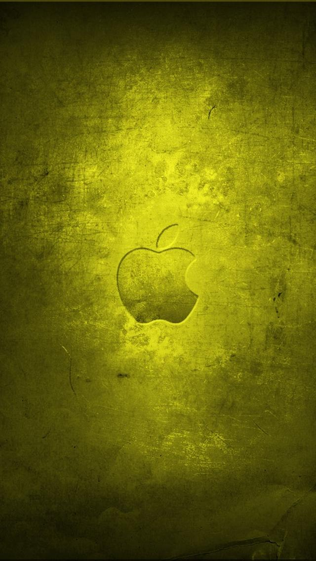 Apple Old Yellow iPhone 5 Wallpapers Hd 640x1136 Iphone 5 Wallpaper 640x1136