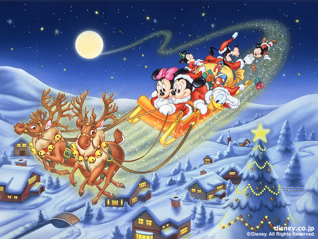 Wallpaper Mansion Disney Christmas Wallpapers 1024x768