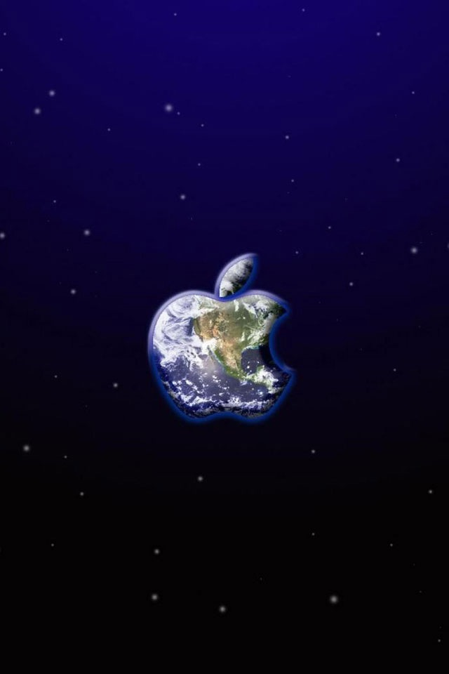 Download for iPhone logos wallpaper Apple Earth 640x960
