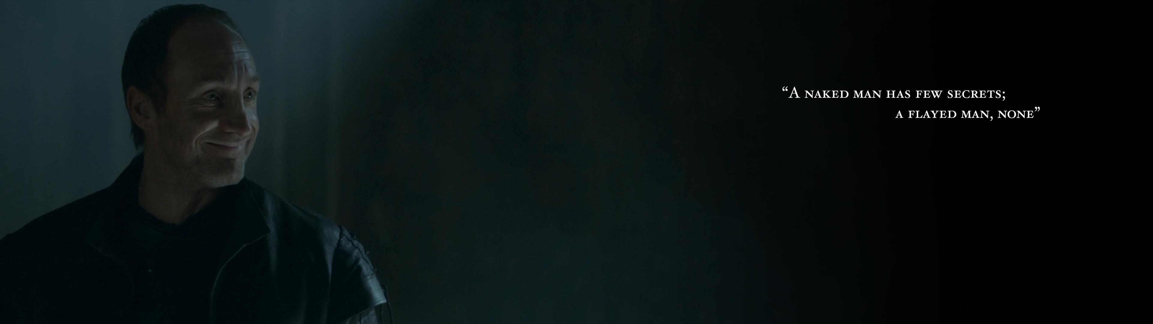 S03E10] Roose Bolton wallpaper that I made 3840x1080 gameofthrones 3840x1080