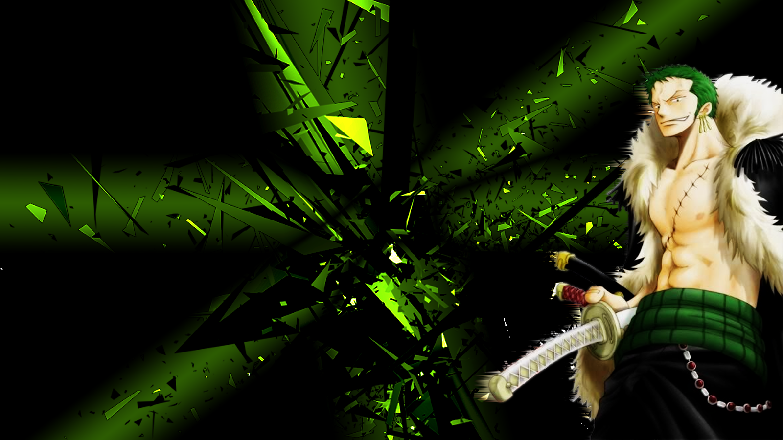 backgrounds for laptop or computer Roronoa Zoro One Piece 1600x900