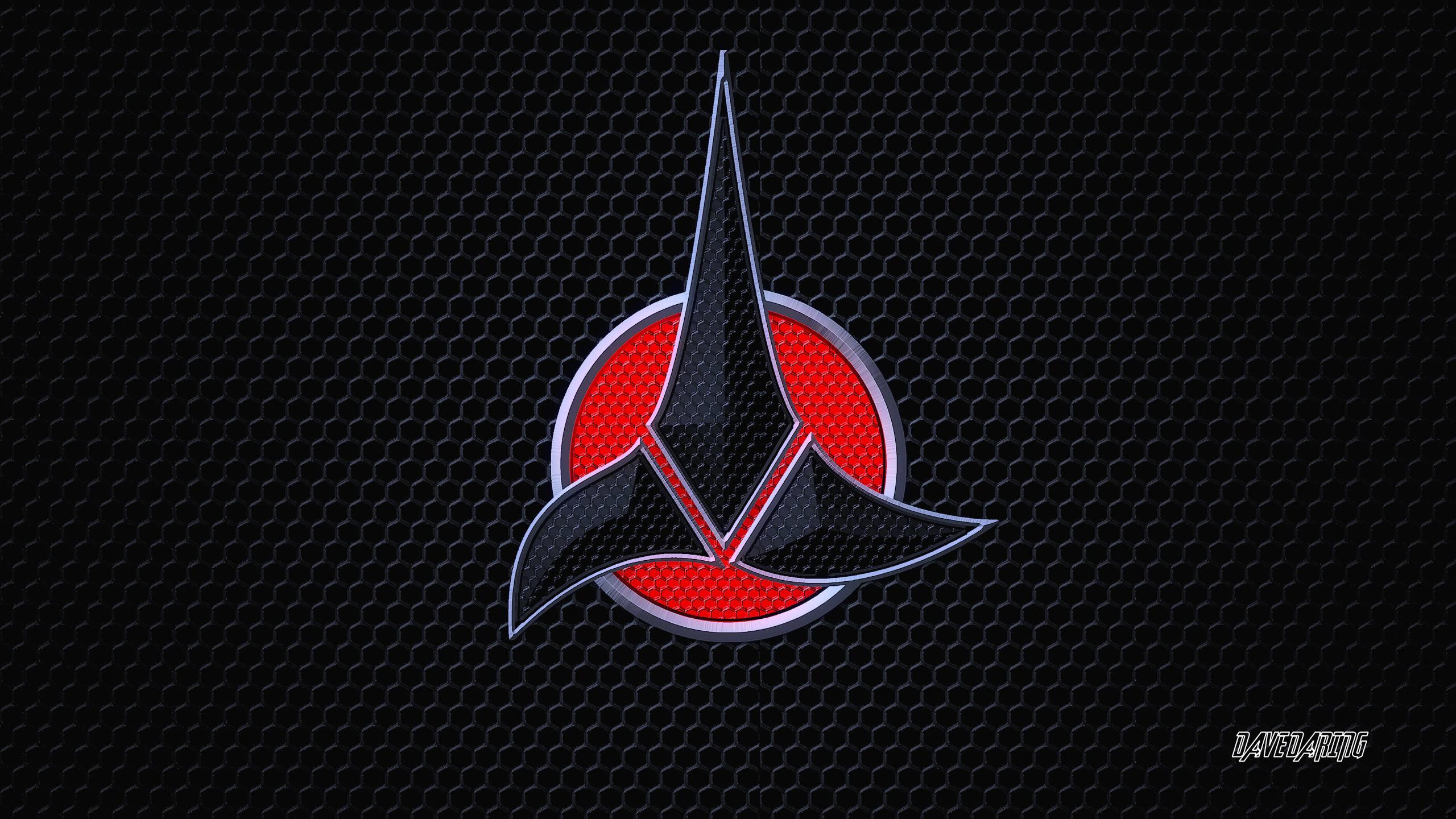 Klingon Symbol Wallpaper Techno klingon emblem by dave 2560x1440