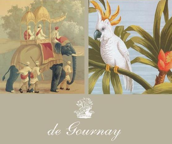 Hand Painted Chinoiserie Wallpapers and French 19th Century Panoramics 556x465