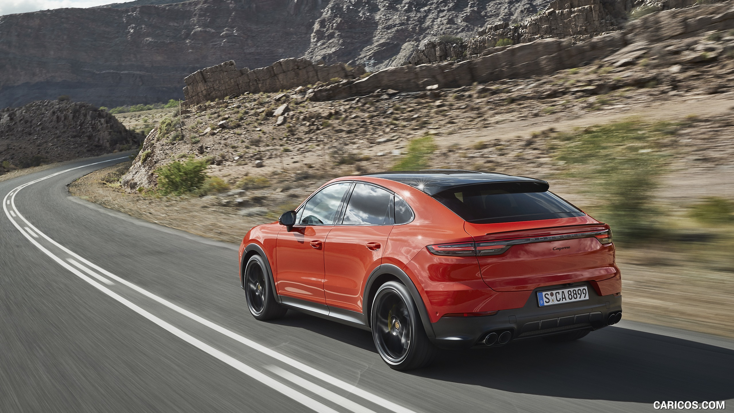 2020 Porsche Cayenne Coupe   Rear Three Quarter HD Wallpaper 3 2560x1440
