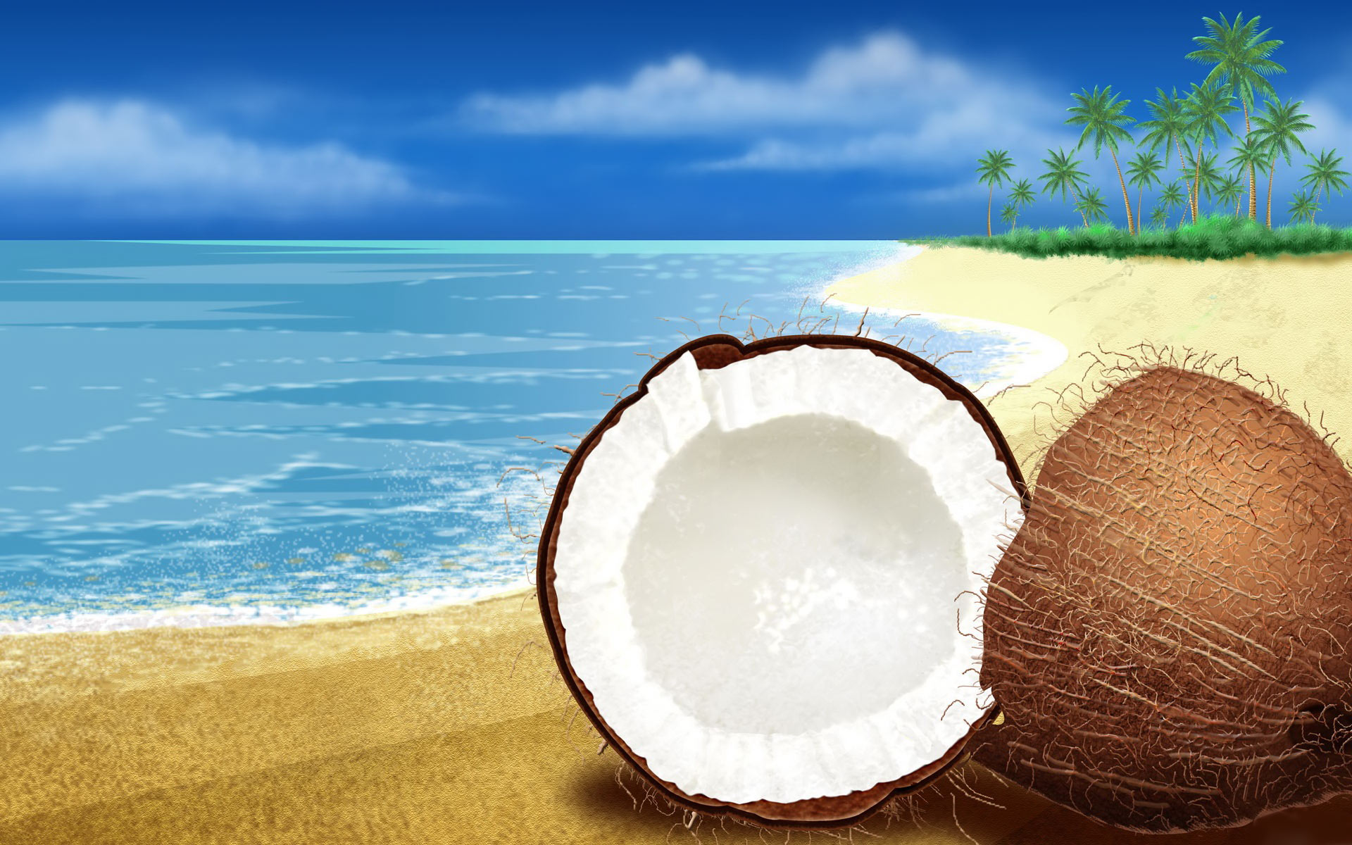 Coconut Beach free windows 7 backgrounds Desktop Wallpaperjpg 1920x1200