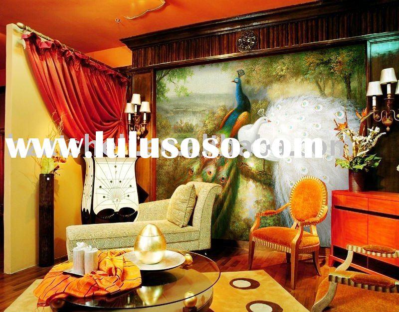 hand painted silk wallpaper 800x627