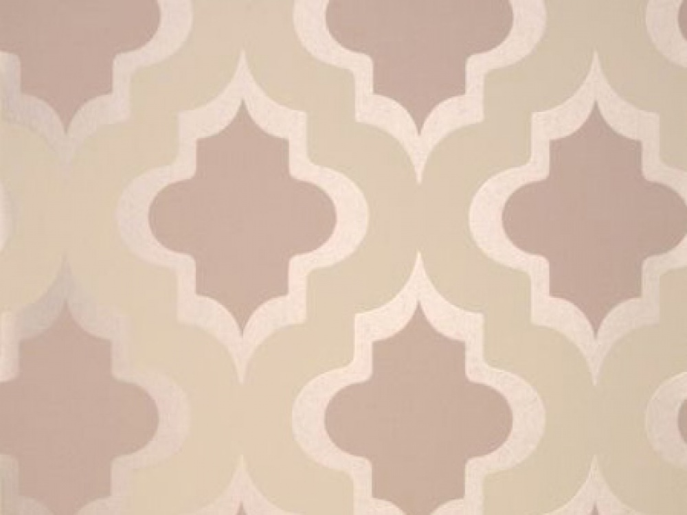 Delivery on Kasbah Taupe Brown Geometric Wallpaper 1000x750