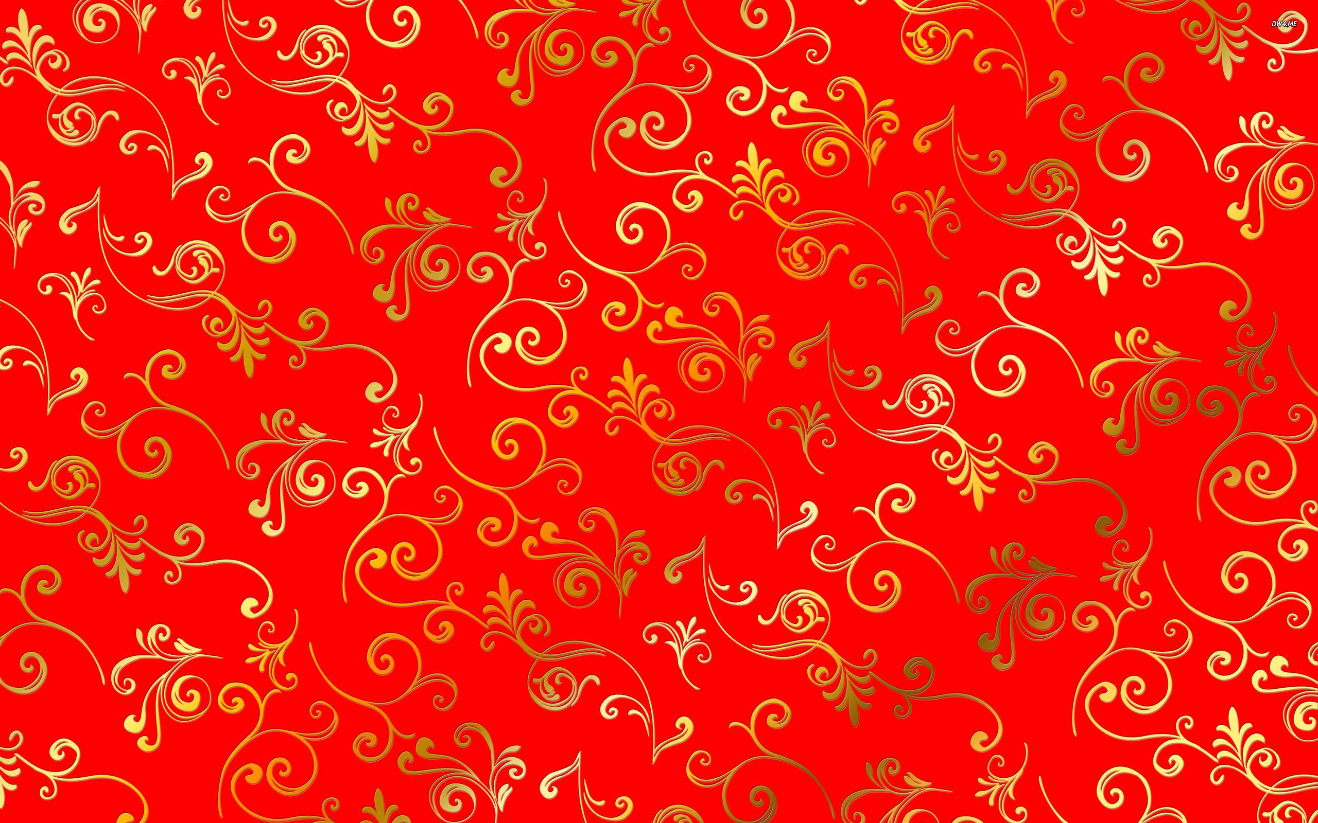 Golden swirl pattern wallpaper   Vector wallpapers   975 2560x1600