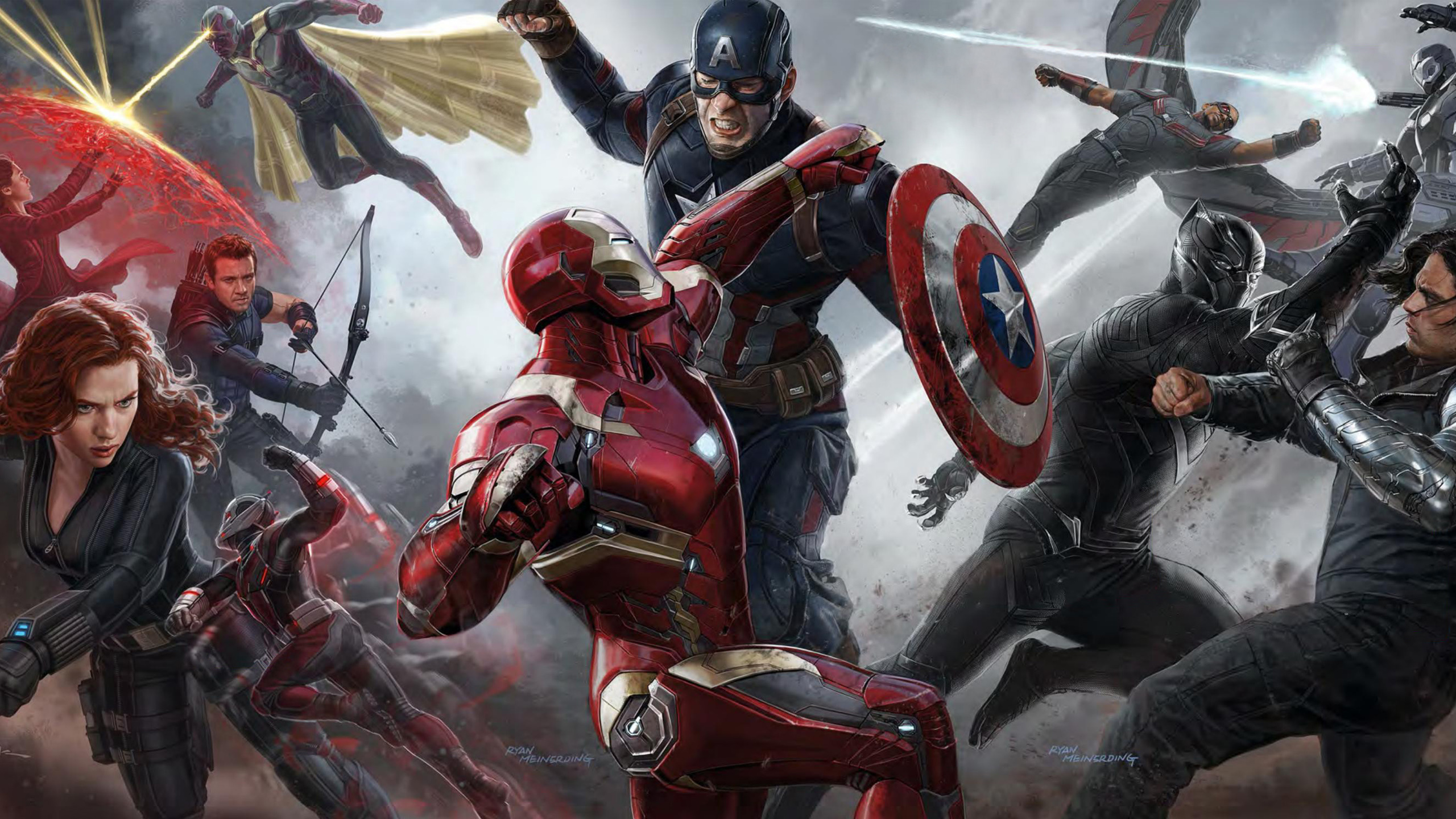 Captain America Civil War Concept Art Wallpapers HD Wallpapers 2560x1440