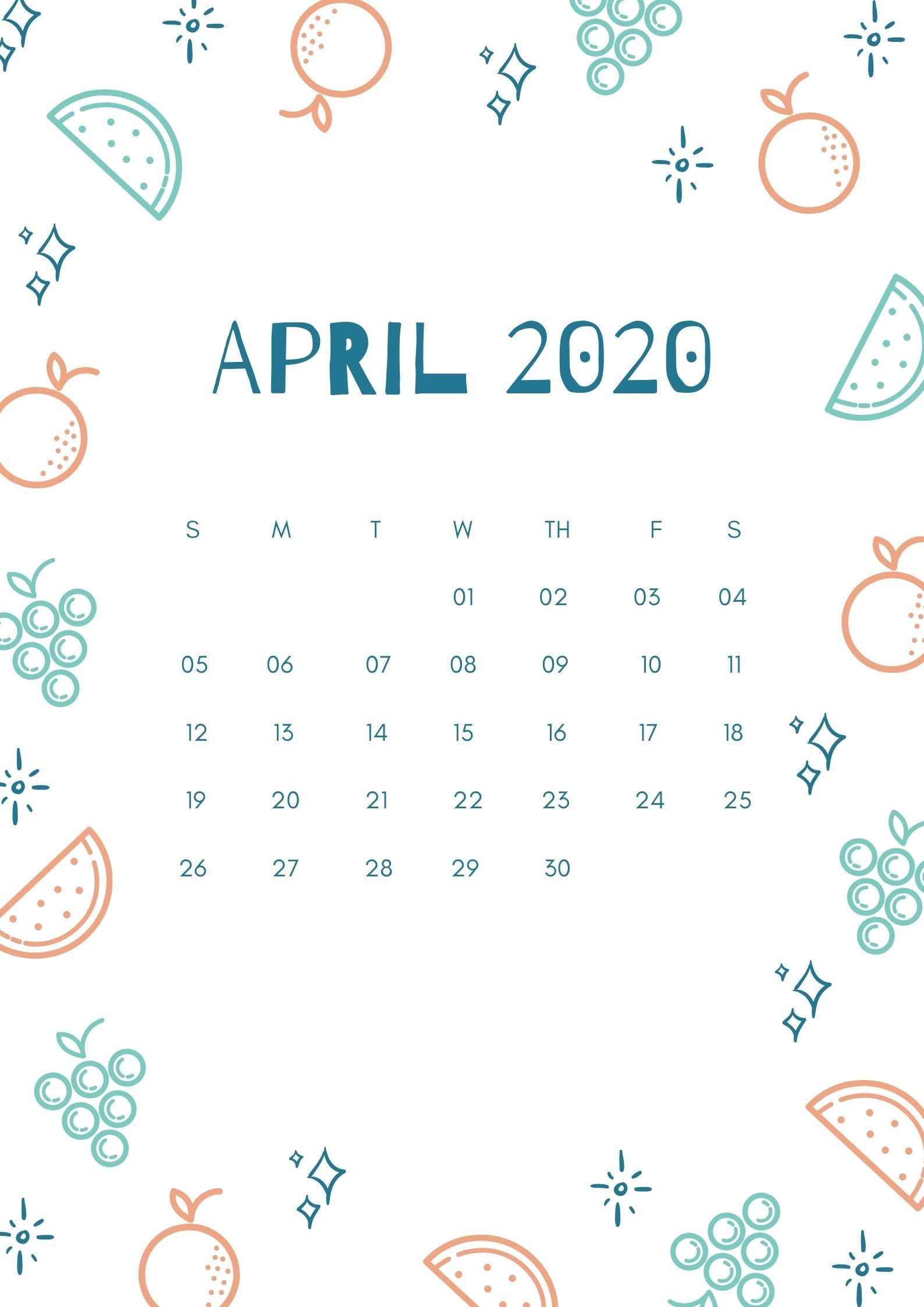April 2020 Calendar iPhone Wallpaper   August 2019 Calendar 1588x2246