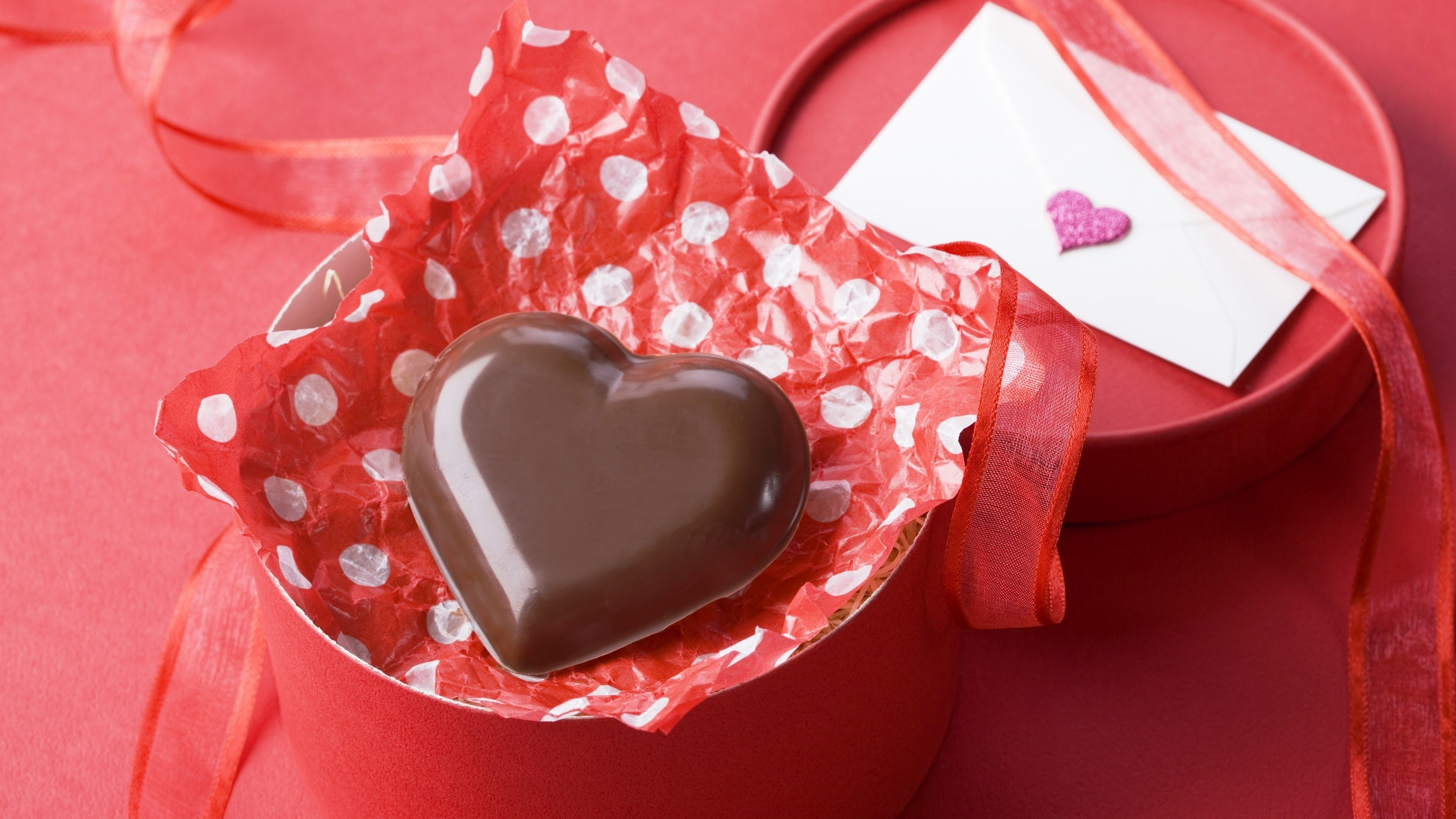 Wallpaper Valentines Day February 14 chocolate candy hearts 3840x2160