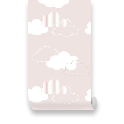 Pink Clouds Removable Wallpaper   Peel Stick Repositionable on Etsy 500x500