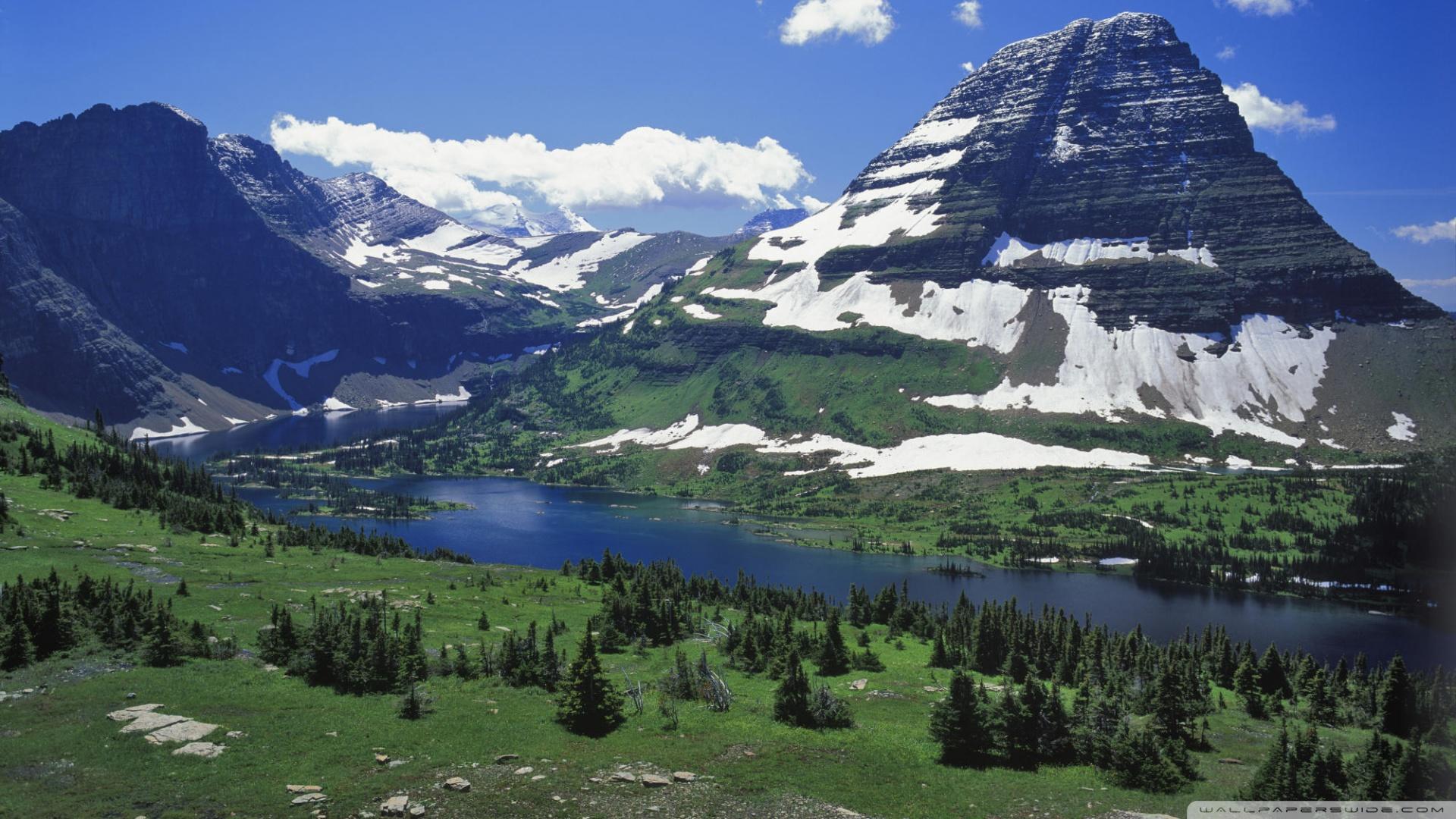 Download Hidden Lake Glacier National Park Montana Wallpaper 1920x1080