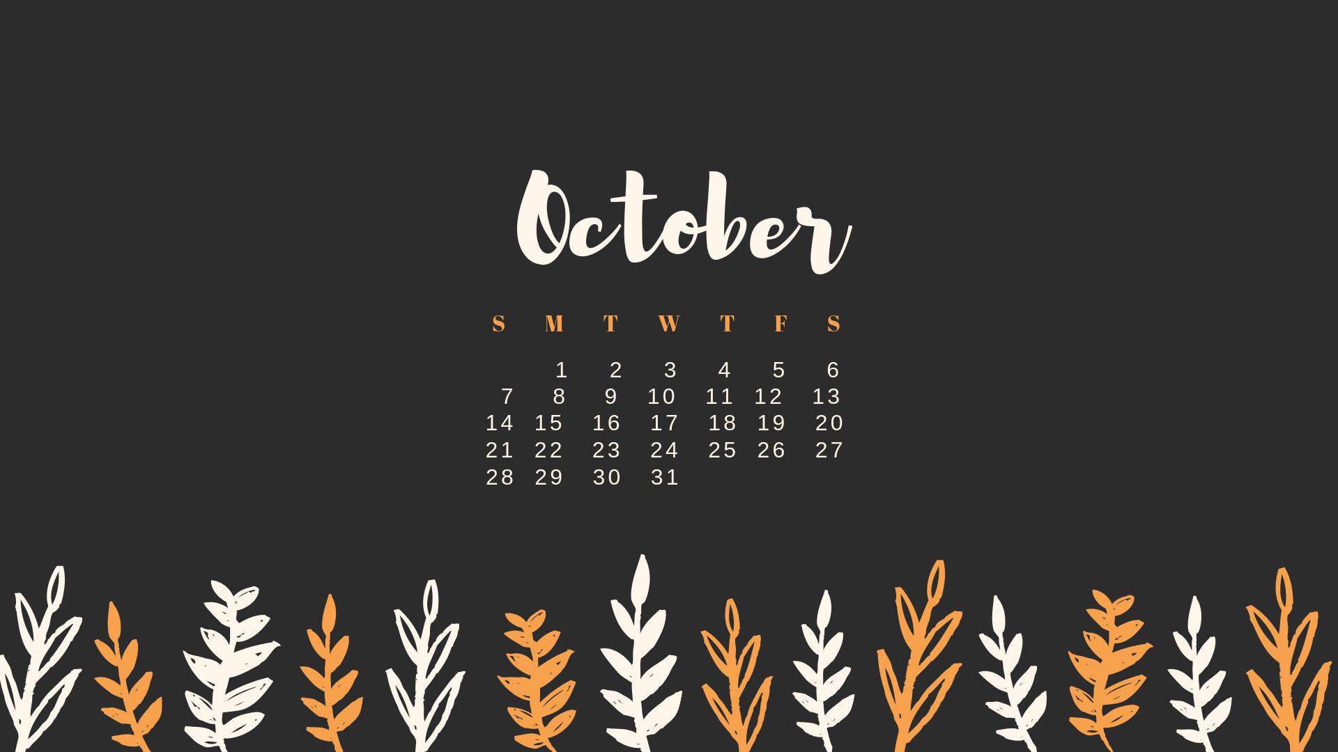 Download October Calendars Wallpapers Blog 1920x1080