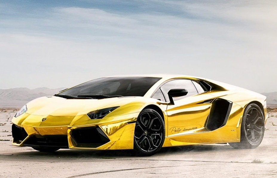 Lamborghini Aventador LP700 Has Been Given A Paint Job In Gold Finish  927x596