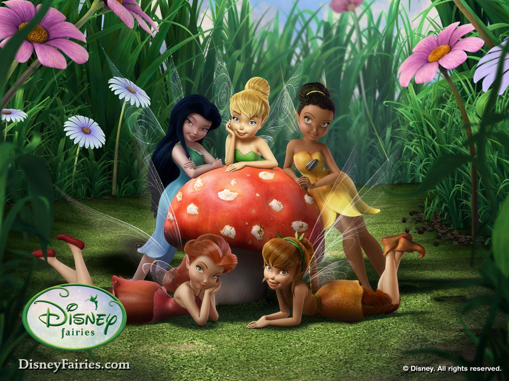 tinkerbell and friends wallpaper 1024x768