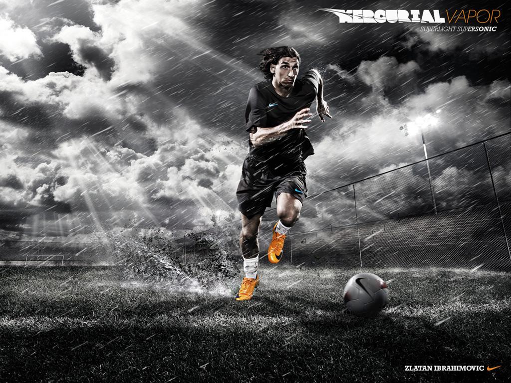 Zlatan Ibrahimovic Football Wallpaper 1024x768