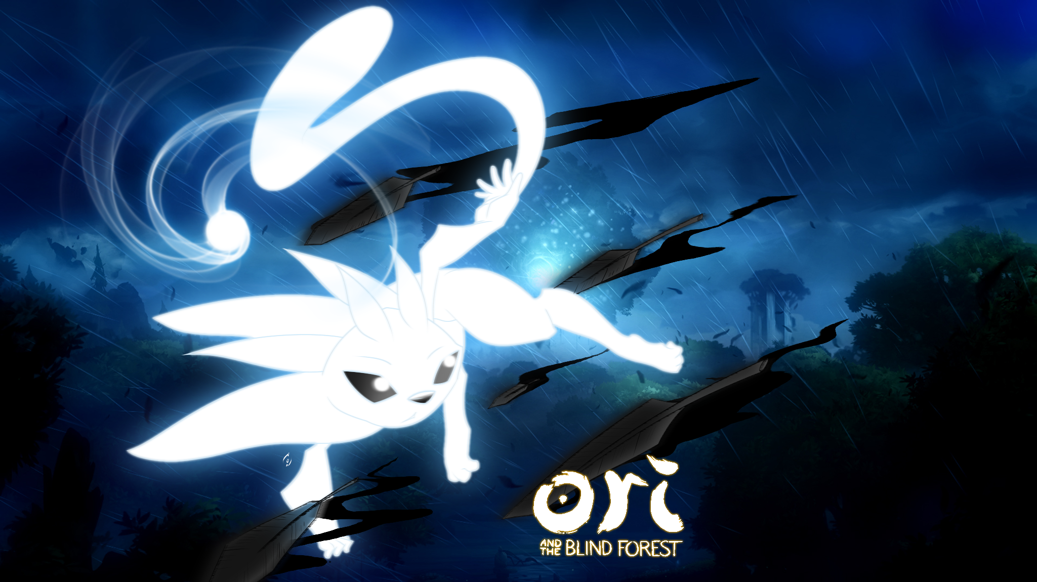 Free Download Ori And The Blind Forest By Akaonic 2049x1150 For