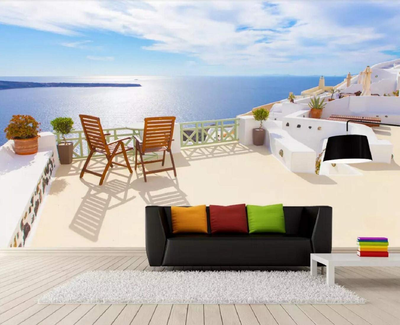 Wall Mural of The Love Sea in Santorini Greece Europe Mural 1352x1100