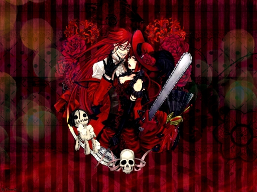 Madam Red and Grell Sutcliff by CloverSuu 512x384