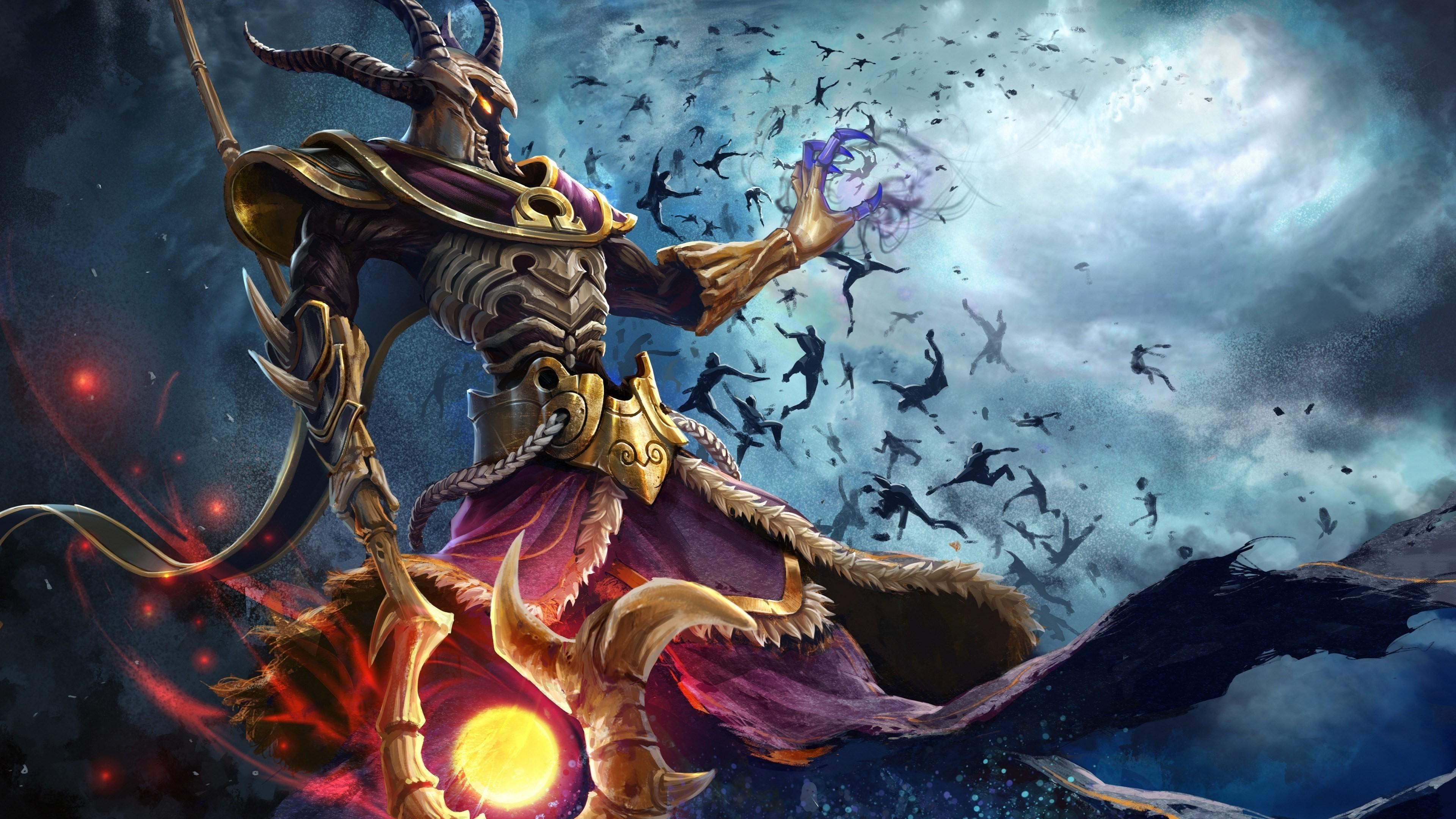 digital Art Fantasy Art Painting Men Warrior Smite Hades 3840x2160