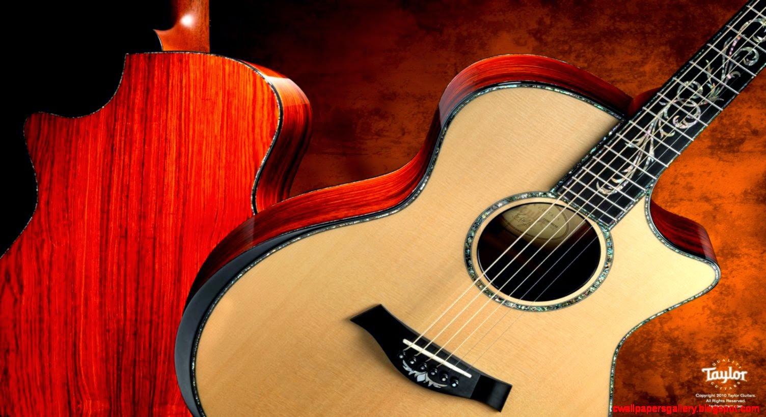 Taylor Guitar Desktop Wallpaper Wallpapers Gallery 1504x820