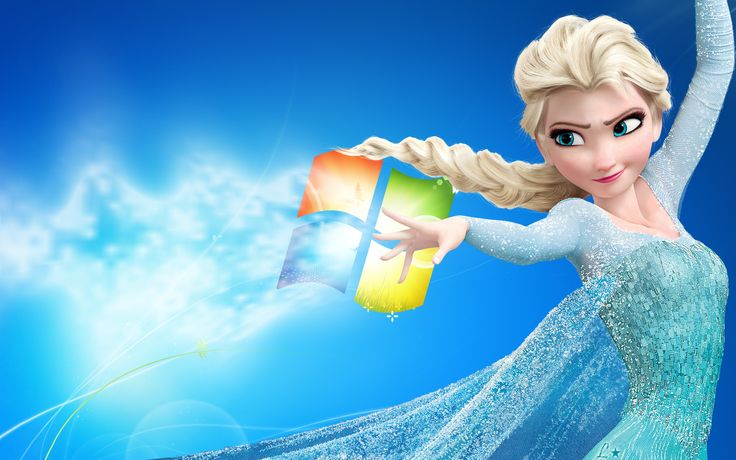 Disney Frozen Elsa Windows 7 Wallpaper Coisas para usar Pinterest 736x460