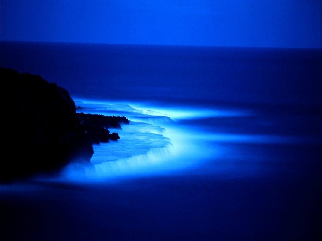blue sea at night wallpaper   Friends Korner Urdu Photo Gallery 1024x768