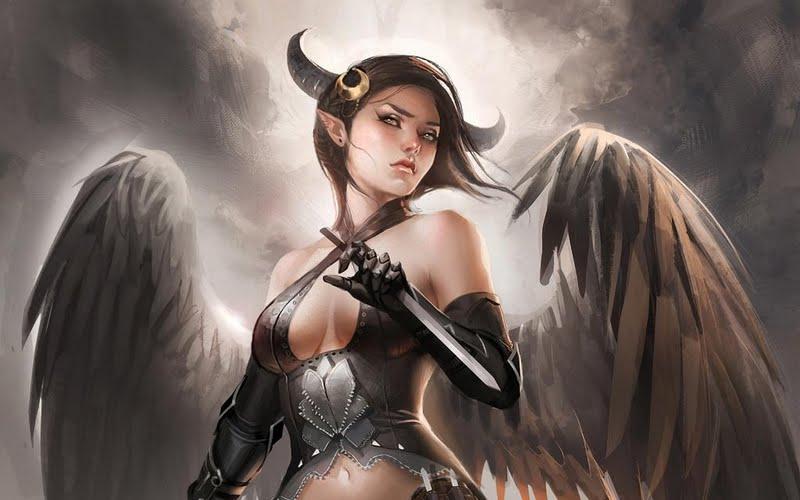 High resolution Demon Girl desktoplaptop wallpaper Listed in evil 800x500
