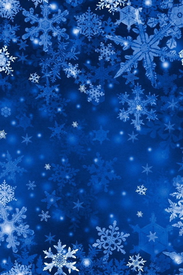 Blue Snowflakes iPhone HD Wallpaper iPhone HD Wallpaper download 640x960