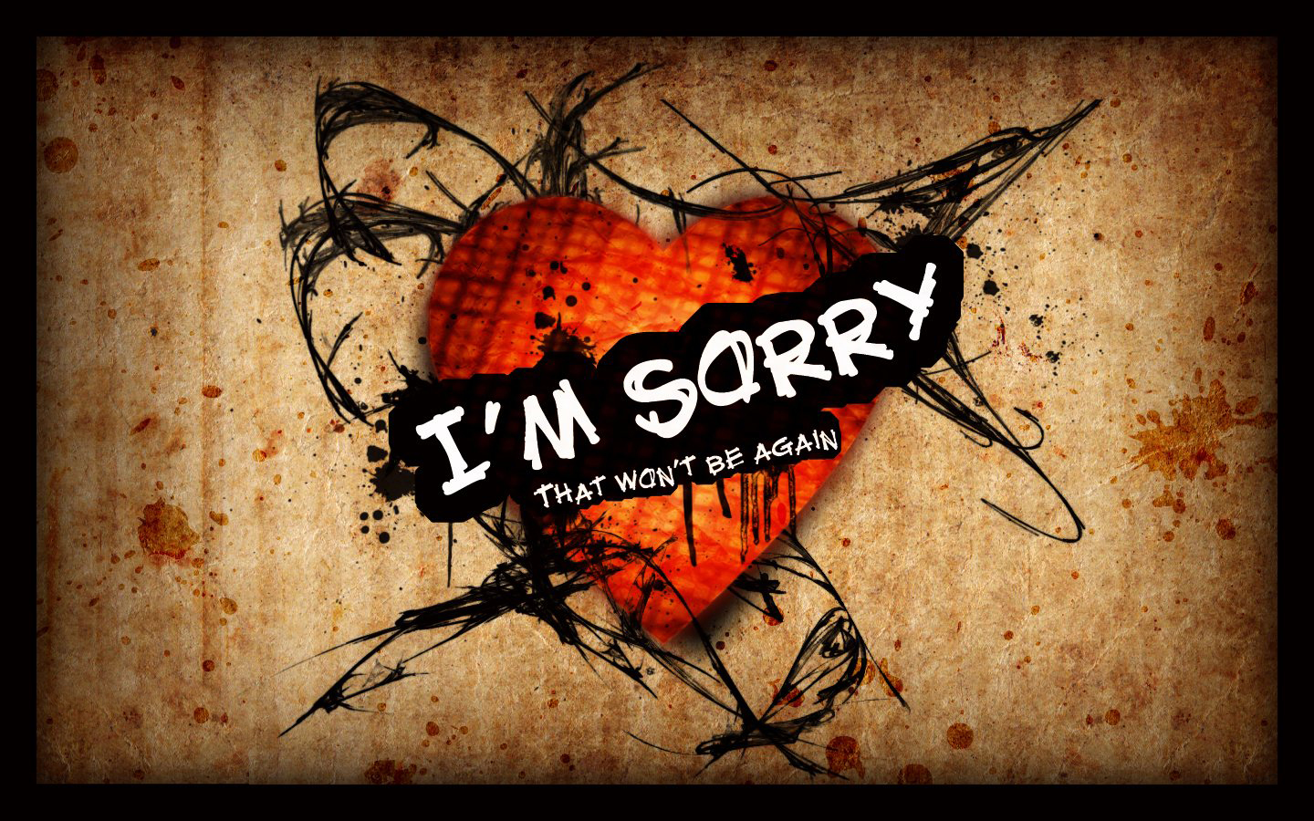 am sorry wallpapers HD Wallpaper 1440x900
