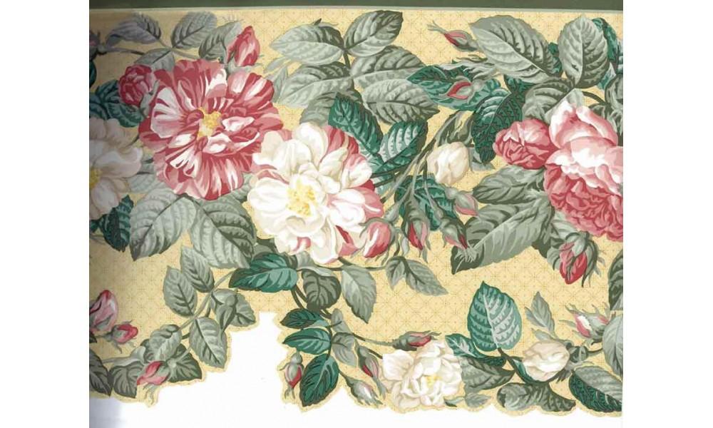 Home Red White Daisy Flower Wallpaper Border 1000x600