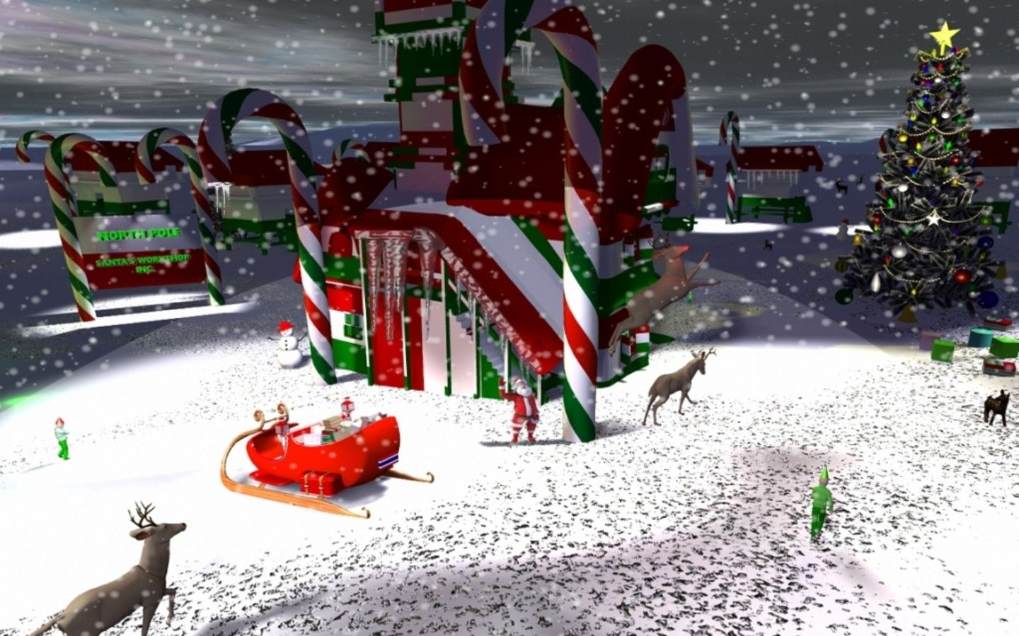 Northpole Christmas Wallpapers [HD] Wallpapers High Definition 1440x900