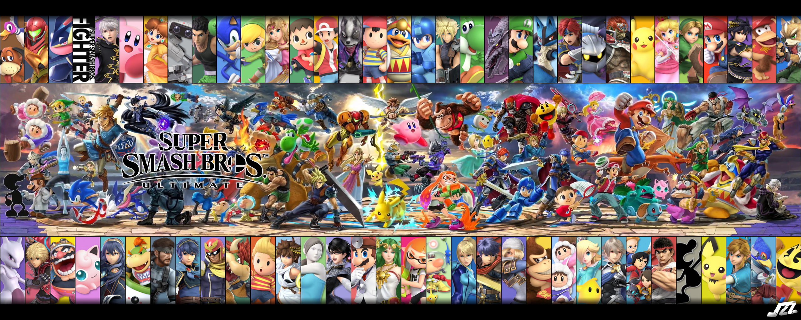 Super Smash Bros Ultimate Dual Monitor Background by JemiZZ 2560x1024