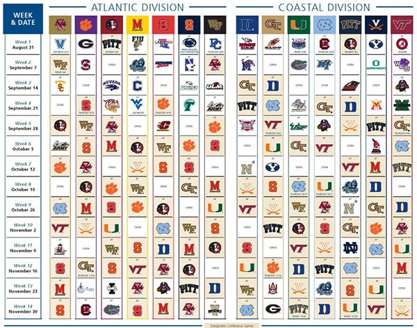FSUs 2013 Football Schedule Officially Announced   Florida State 600x472