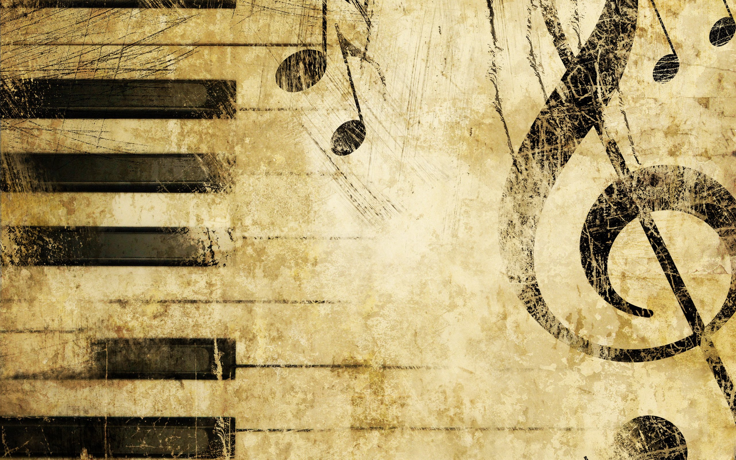 Music Notes Wallpaper 2560x1600